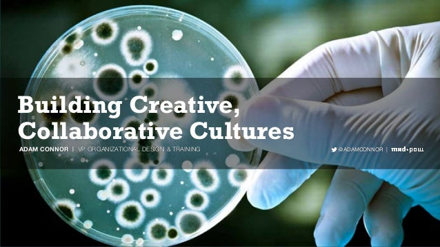Building Creative, Collaborative Cultures @ADAMCONNOR |ADAM CONNOR | VP ORGANIZATIONAL DESIGN & TRAINING