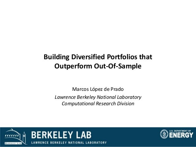 Building Diversified Portfolios that Outperform Out-of