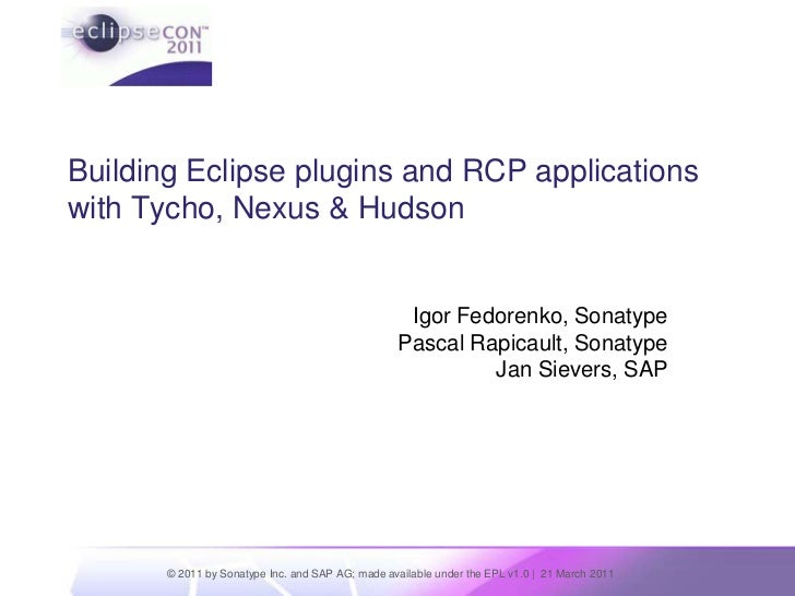 Building Eclipse Plugins with Tycho
