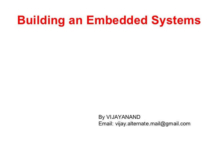 Building an Embedded Systems