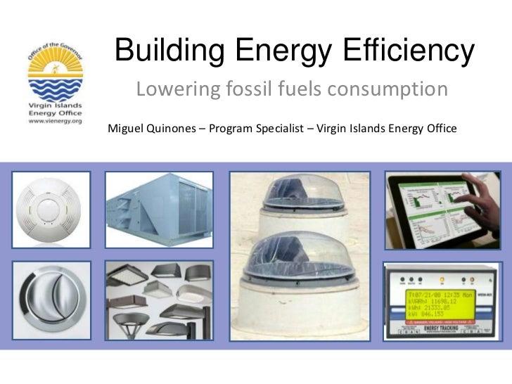 Building Energy Efficiency<br />Lowering fossil fuels consumption<br />Miguel Quinones – Program Specialist – Virgin Islan...