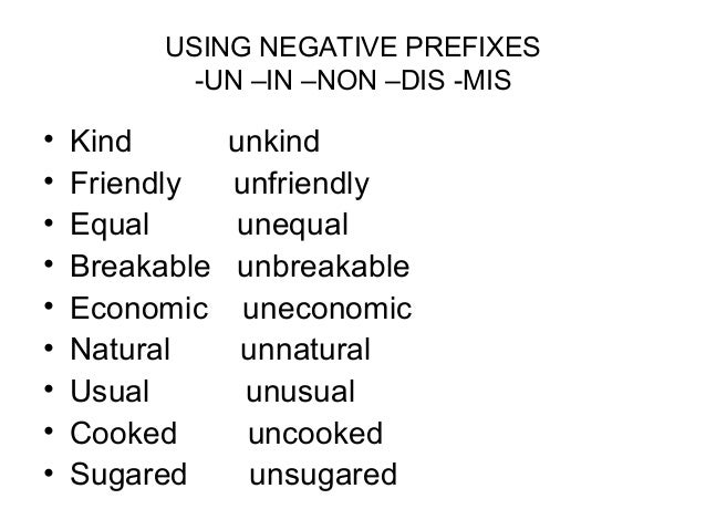 Prefix Non Worksheet Worksheets for all | Download and Share ...