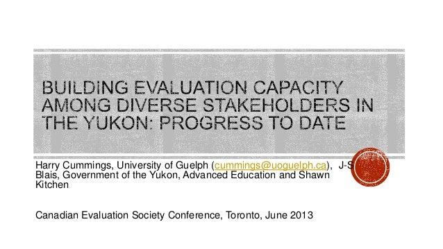 Harry Cummings, University of Guelph (cummings@uoguelph.ca), J-SBlais, Government of the Yukon, Advanced Education and Sha...