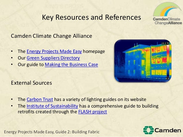 Key Resources and ReferencesCamden Climate Change Alliance• The Energy Projects Made Easy homepage• Our Green Suppliers Di...