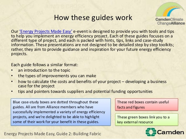 How these guides workOur 'Energy Projects Made Easy' e-event is designed to provide you with tools and tipsto help you imp...