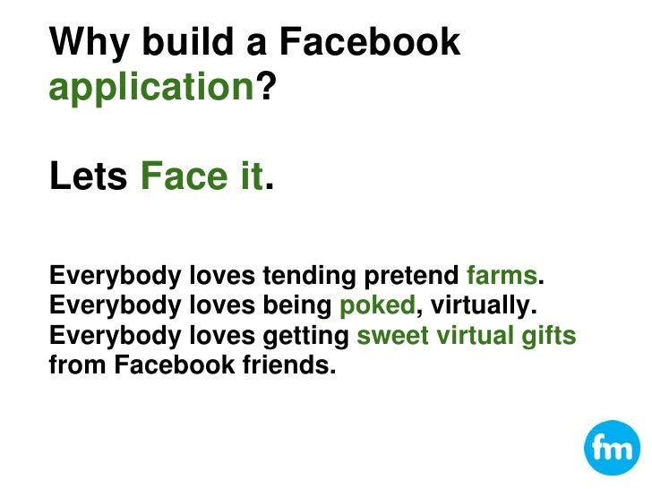 Barcamp AK4 Building facebook applications Slide 2