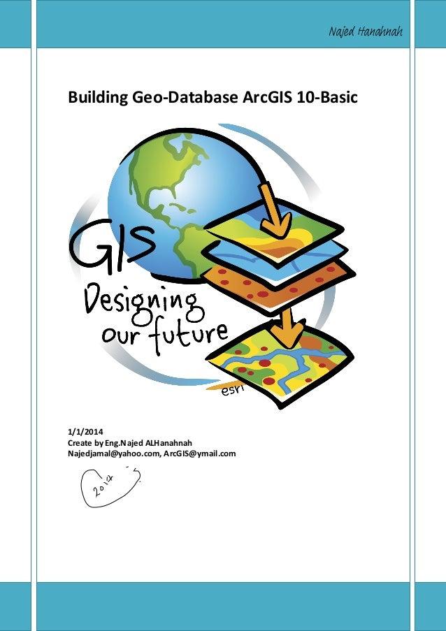 Building Geo-Database ArcGIS 10  Najed Hanahnah  Building Geo-Database ArcGIS 10-Basic  1/1/2014 Create by Eng.Najed ALHan...