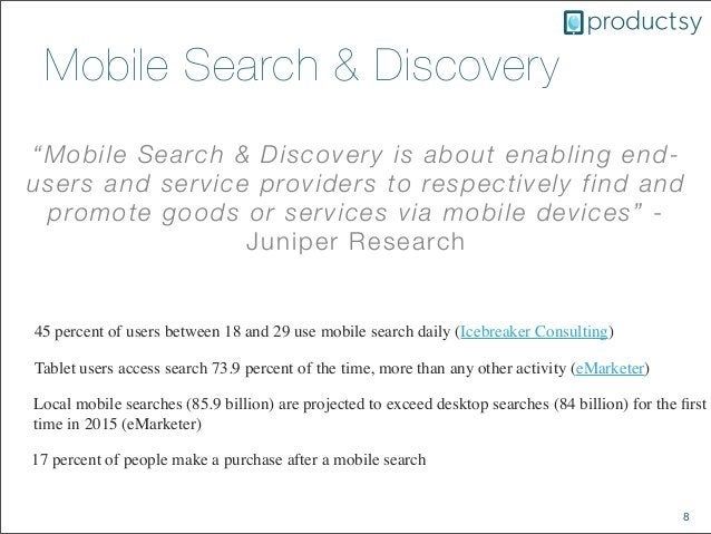 """8Mobile Search & Discovery""""Mobile Search & Discovery is about enabling end-users and service providers to respectively fin..."""