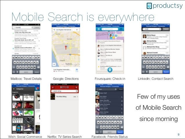 9Mobile Search is everywhereMailbox: Travel Details Google: Directions Foursquare: Check-in LinkedIn: Contact SearchWish: ...