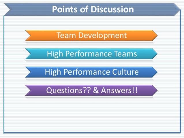 Building High Performance Teams Slide 2