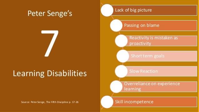 peter senge learning disabilities