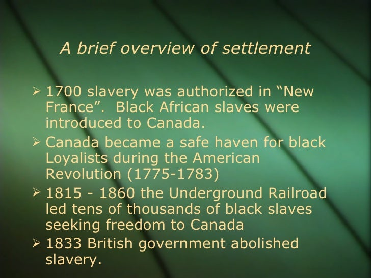 Frq 1775 to 1830 slavery in