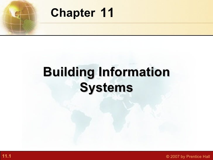 11 Chapter   Building Information Systems