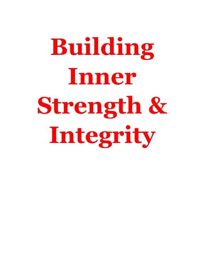 Building   InnerStrength & Integrity    -1-