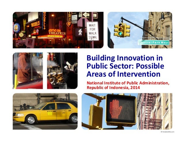 Building Innovation in Public Sector: Possible Areas of Intervention National Institute of Public Administration, Republic...