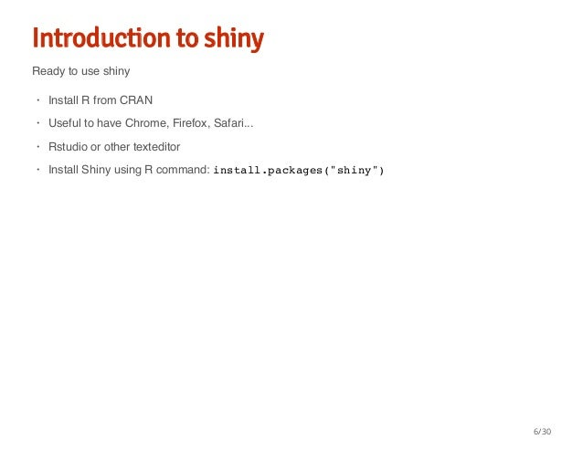 Building interactive web app with shiny