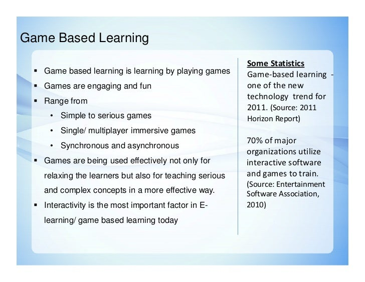 thesis game based learning We are committed to learning more about the world of educational gaming here are some of our favorite game-based learning resources.