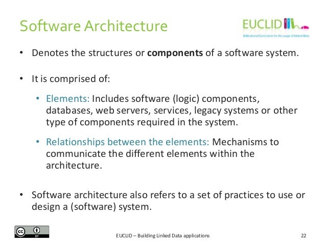 Software Architecture • Denotes the structures or components of a software system. • It is comprised of: • Elements: Inclu...