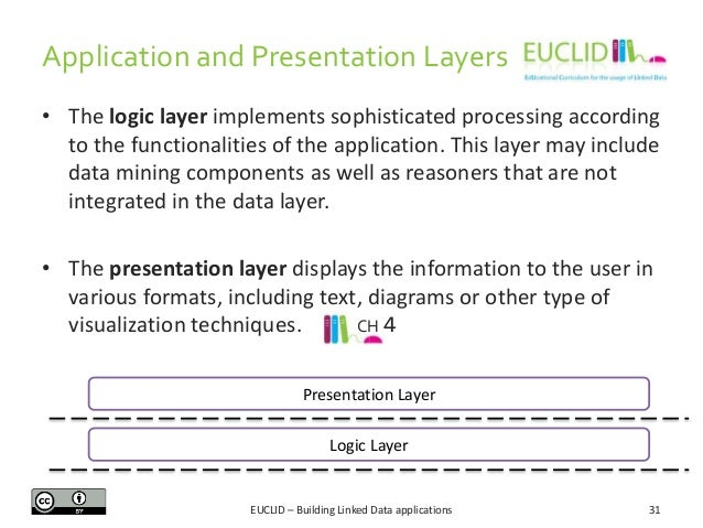 Application and Presentation Layers • The logic layer implements sophisticated processing according to the functionalities...