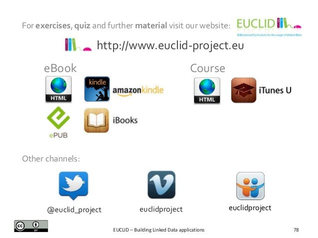 For exercises, quiz and further material visit our website:  http://www.euclid-project.eu Course  eBook  Other channels:  ...