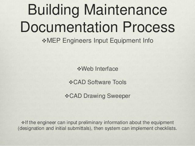 Building maintenance documentation