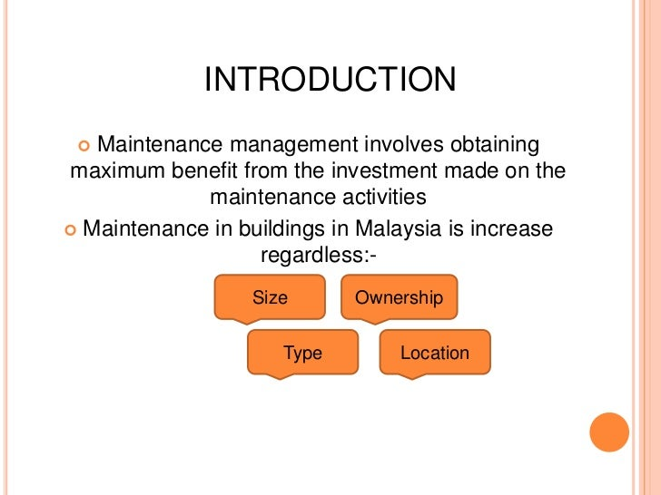 Building maintenance management in malaysia