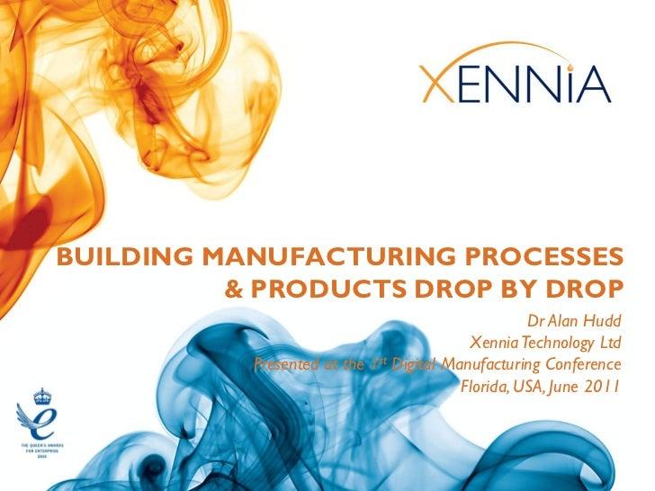 BUILDING MANUFACTURING PROCESSES          & PRODUCTS DROP BY DROP                                                    Dr Al...