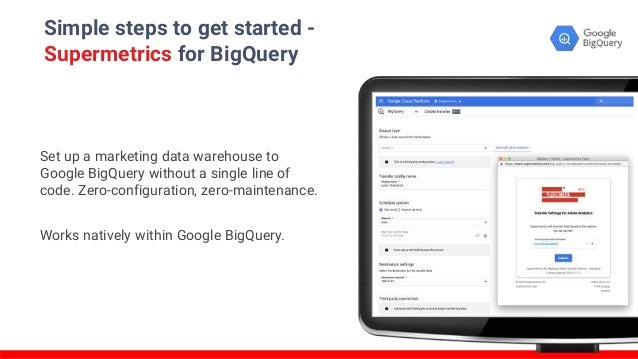 Simple steps to get started - Supermetrics for BigQuery Set up a marketing data warehouse to Google BigQuery without a sin...