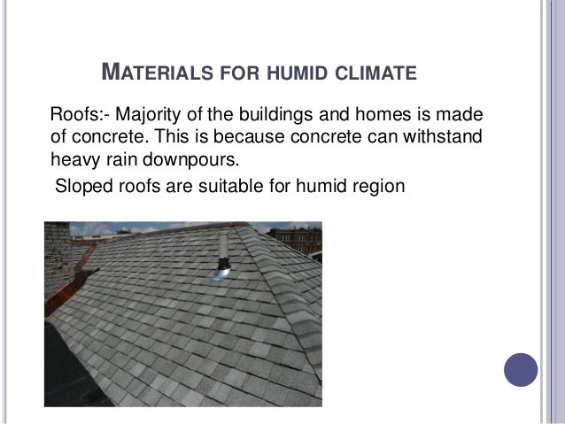 Building Material For Different Climate Activity