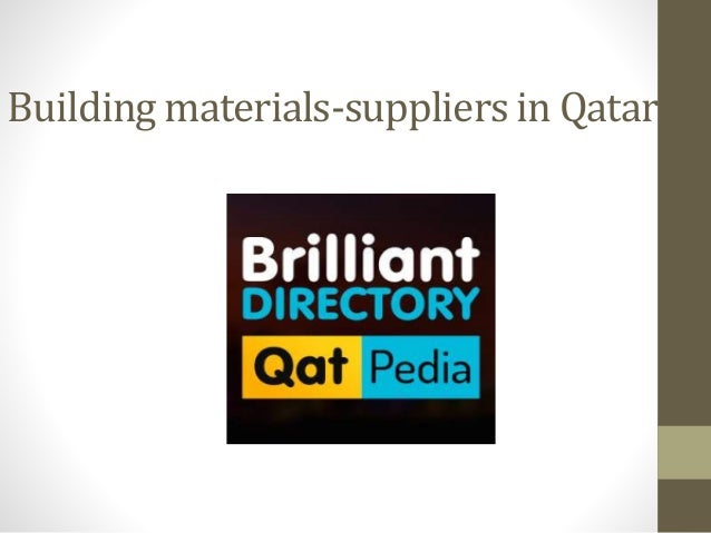 Building materials suppliers in qatar