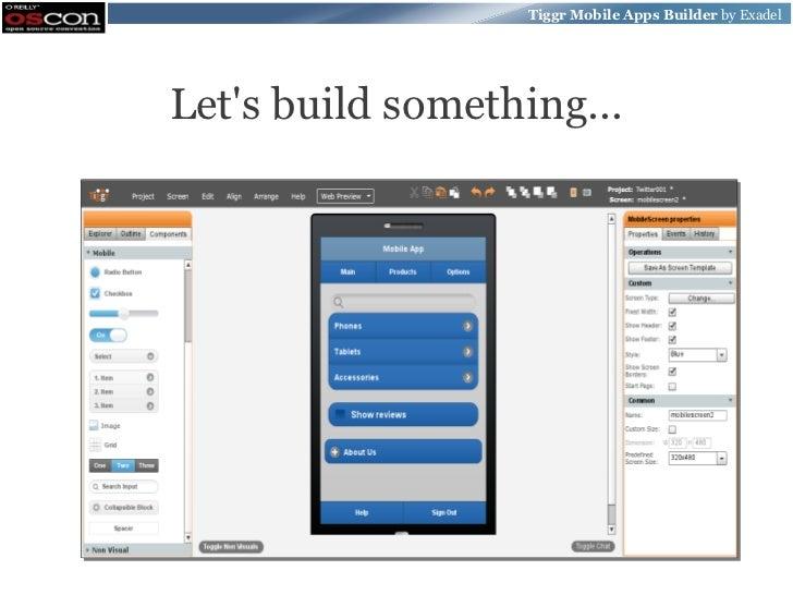 Tiggr Mobile Apps Builder by ExadelLets build something...