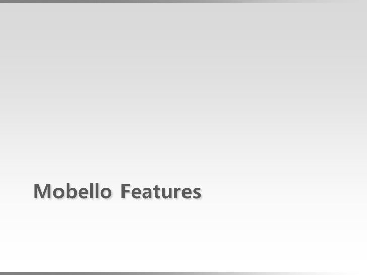 building mobile web apps with mobello