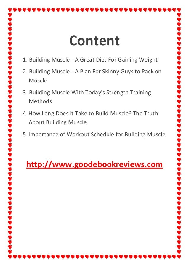 Importance Of Workout Schedule For Building Muscle Goodebookreviews 2