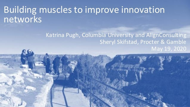 Building muscles to improve innovation networks Katrina Pugh, Columbia University and AlignConsulting Sheryl Skifstad, Pro...