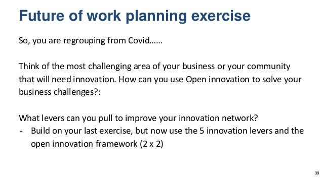 So, you are regrouping from Covid…… Think of the most challenging area of your business or your community that will need i...