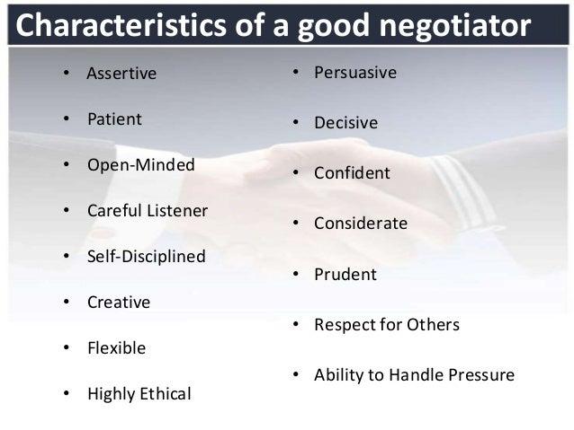 Negotiator Styles in Bargaining