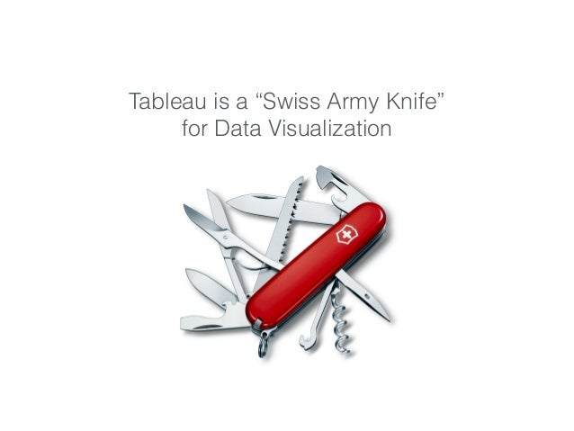 """Tableau is a """"Swiss Army Knife"""" for Data Visualization"""