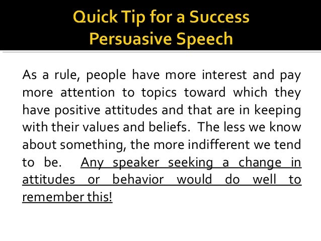 Building on chapters 4  5 persuasive speaking spring 2015