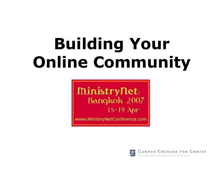 Building YourOnline Community