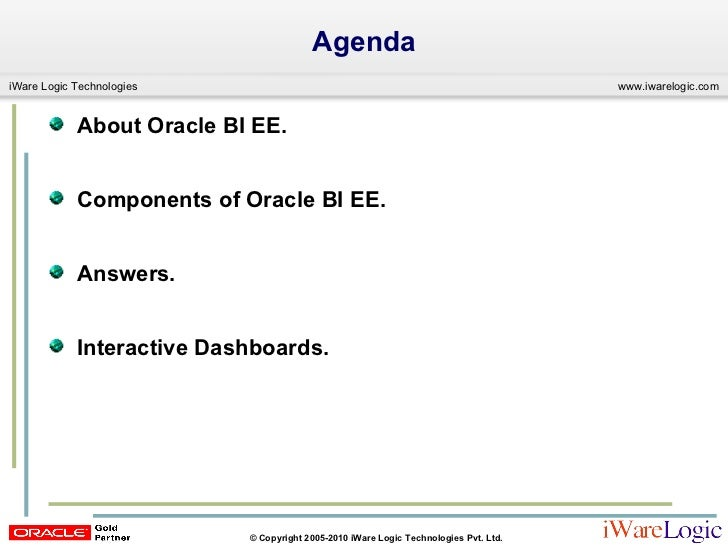 Building Oracle BIEE (OBIEE) Reports, Dashboards Slide 2