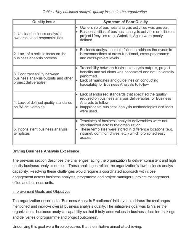 Business analysis templates kubreforic business analysis templates accmission Images