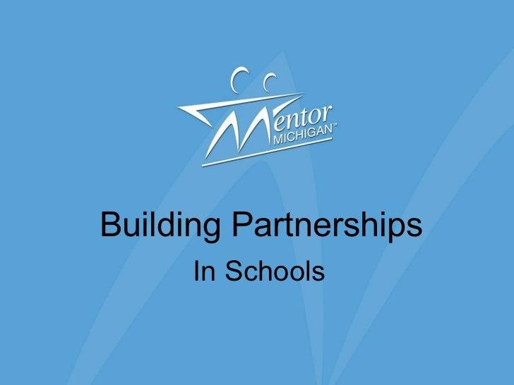 Building Partnerships In Schools