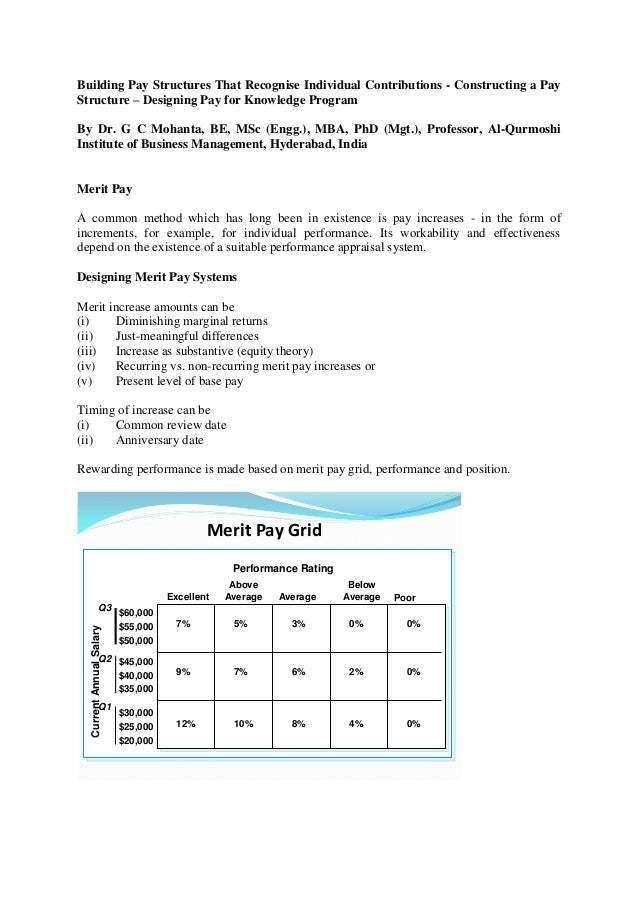 Building a pay structure