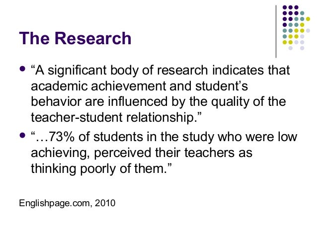 relationship between teacher quality and student achievement definition