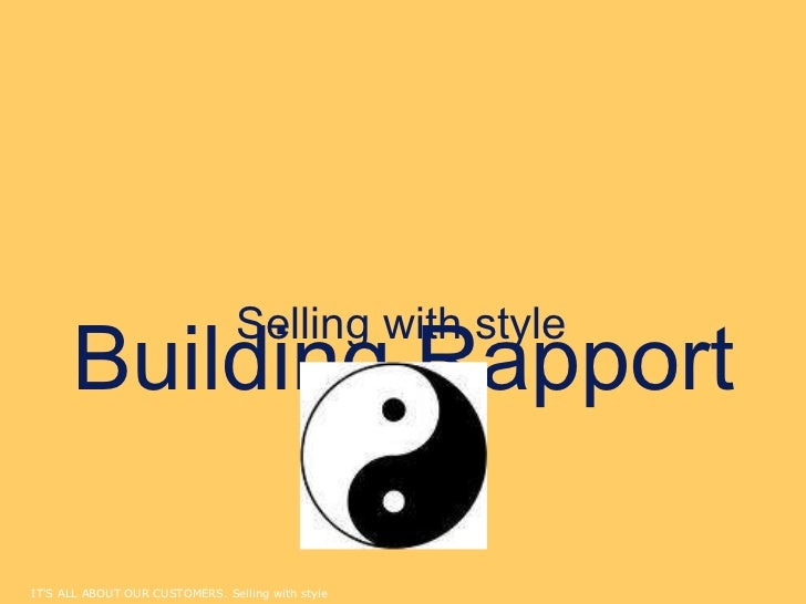 Building Rapport Selling with style
