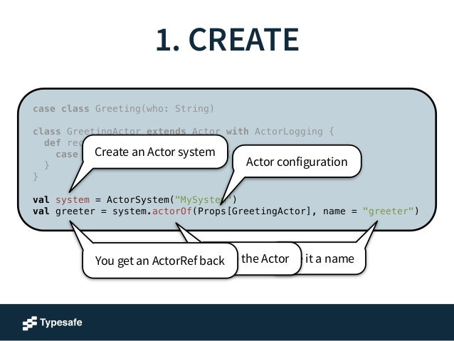 Actors can form hierarchies  Guardian System Actor