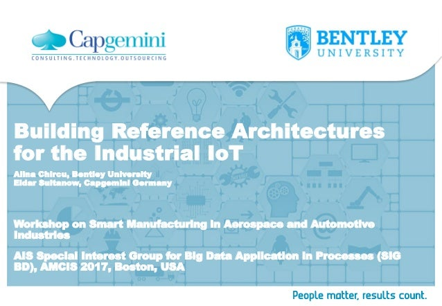 Building Reference Architectures for the Industrial IoT Workshop on Smart Manufacturing in Aerospace and Automotive Indust...