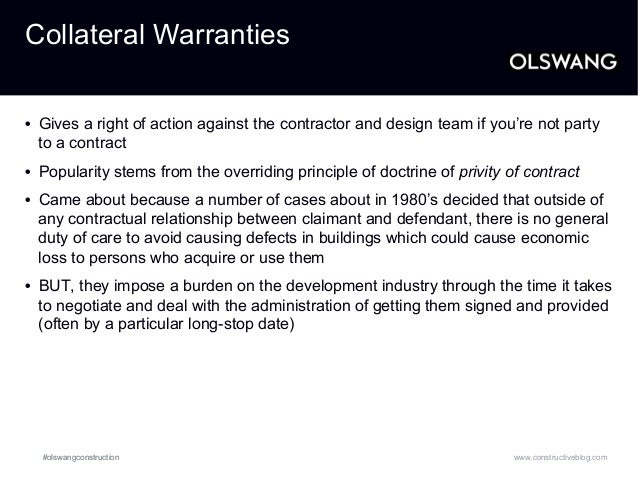Building regulations collateral warranties and third for Construction rules and regulations