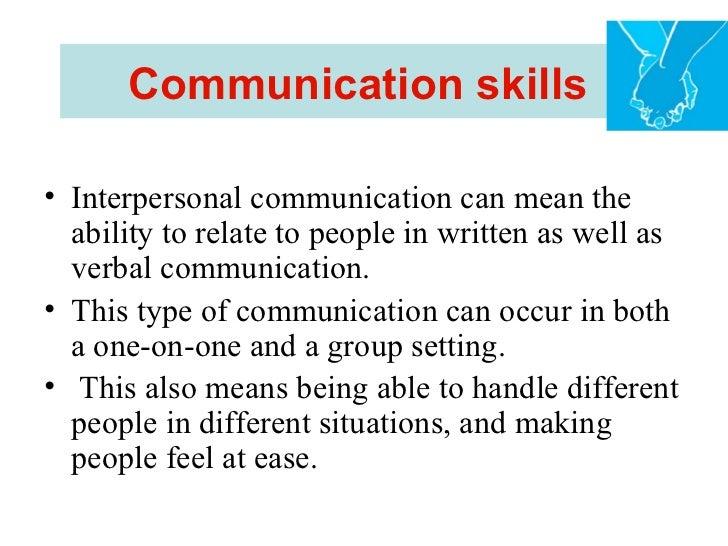 Interpersonal skills in healthcare