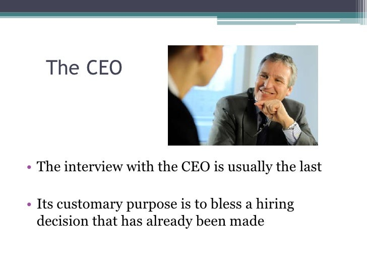 keys to a successful interview